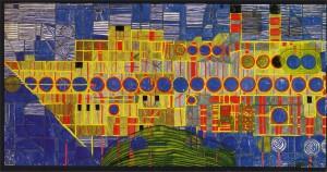 Hundertwasser-Paintings-1959-singender-dampfer-in-ultramarin-III-detail-1
