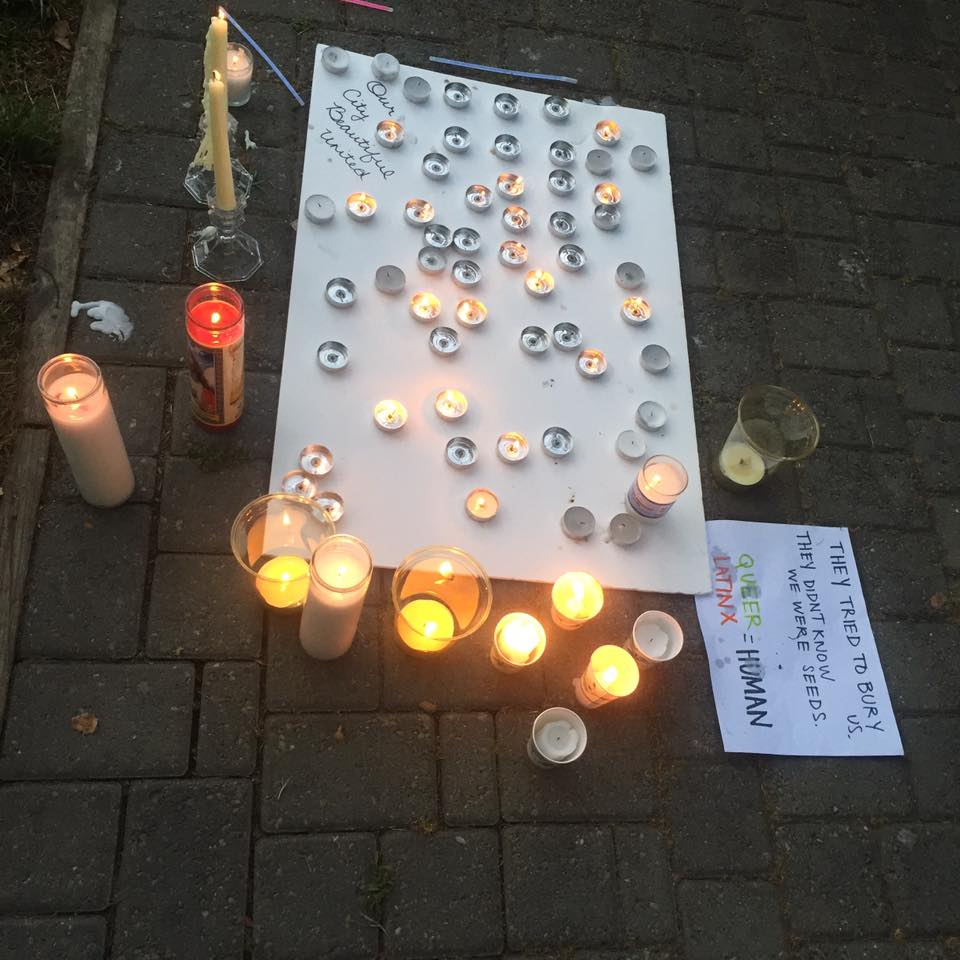 Candles at the vigil