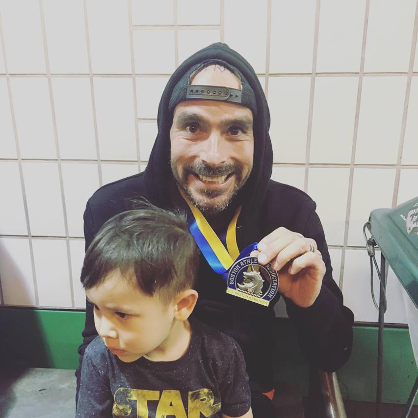 Fernandez with medal